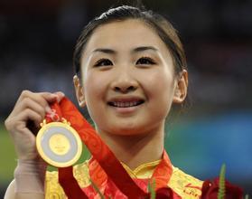 2008年北京奥运时的何雯娜