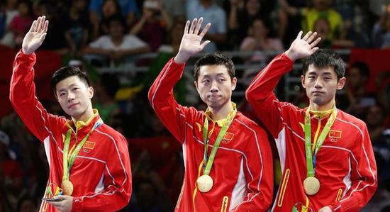 中国乒乓球男团夺金
