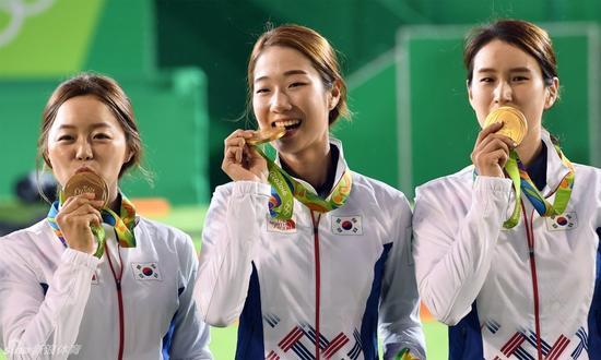 韩国包揽射箭金牌