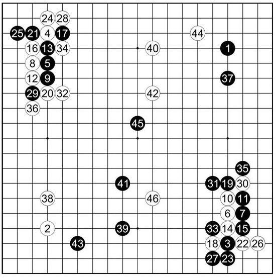 参考谱11 吴清源执黑vs藤泽库之助