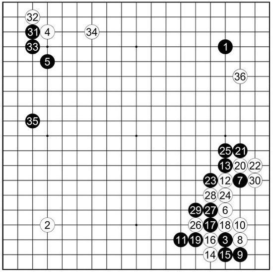 参考谱13李东勋执黑vs李世�h
