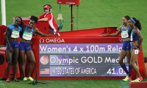 美国女子4*100米重赛符合规则