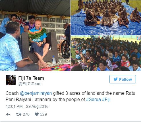 斐济的国家英雄本-瑞安