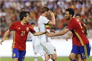热身赛-席尔瓦梅开二度 西班牙2-0完胜比利时