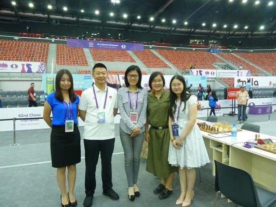 中国女队合影