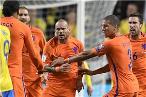 世预赛-斯内德救主 荷兰补时进球无效客平瑞典