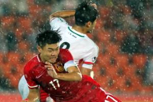 邀请赛-中国U19落后4球后扳回两球 2-4不敌伊朗