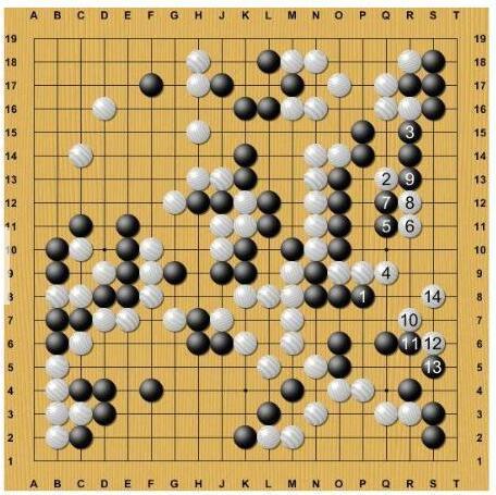 变化图,右边黑棋空里有很多借用