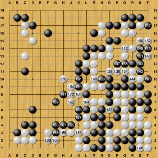 右边的AlphaGo大龙被杀,认输