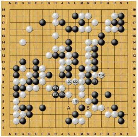 复杂的战斗,白棋右边孤零零的二子竟然能够做活!