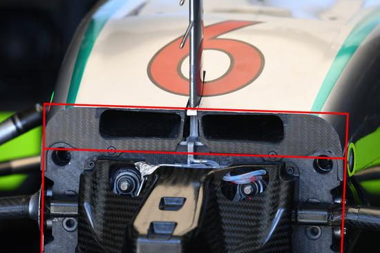 梅奔W07的液压前悬挂系统示意图(来源:Auto Motor und Sport)