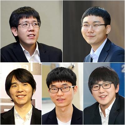 韩国队五位棋手