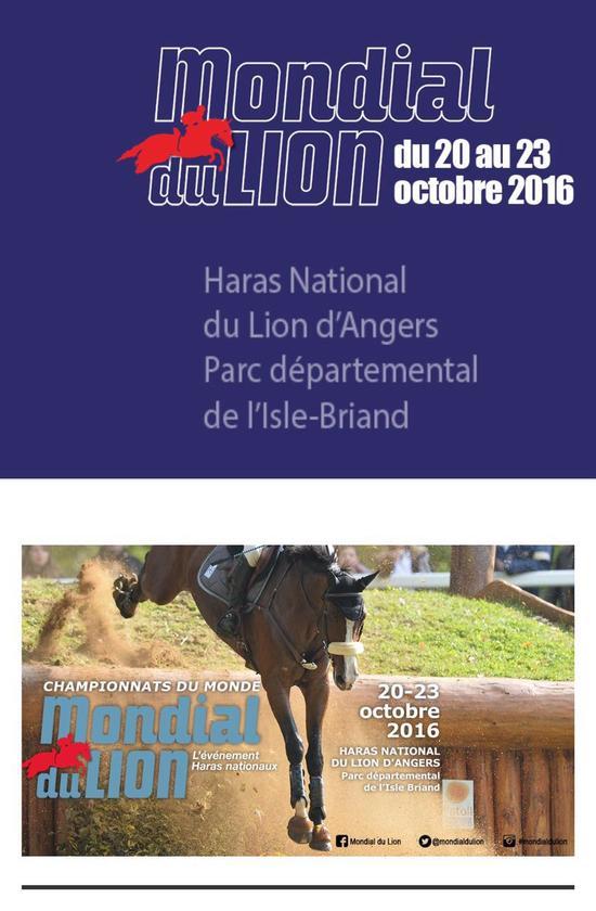 10月20日-23日,在法国昂热举行的年度《世界青年马匹锦标赛》