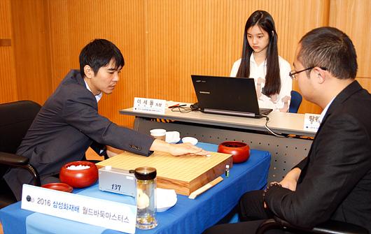 韩国的世界围棋大赛的记谱工作大都由职业棋手完成