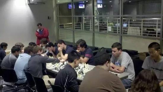 哥伦比亚大学国际象棋代表队在比赛