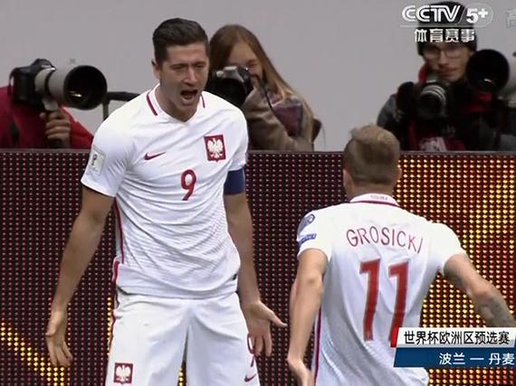 视频集锦-莱万戴帽后卫乌龙大礼 波兰3-2险胜丹麦