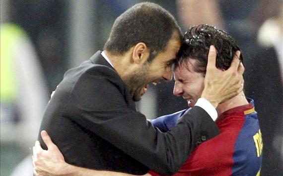 瓜迪奥拉善于发掘球员的潜力,让梅西踢中路就是个例子