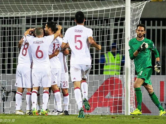 视频集锦-科斯塔诺利托建功 西班牙2-0客胜领跑