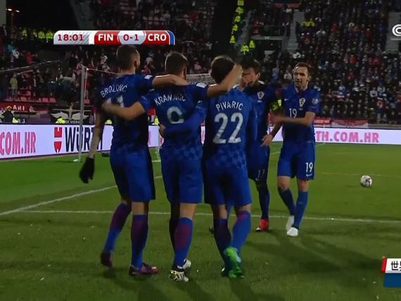 视频集锦-曼朱破门佩里西奇中柱 克罗地亚1-0小胜