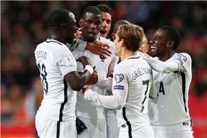 世预赛-博格巴破门徳佩失良机 法国客场胜荷兰