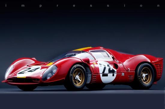 法拉利的330 P4,赛车模型