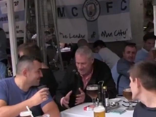 视频-赛前曼城球迷小酌高歌 巴塞罗那街头盛赞瓜帅
