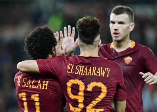 罗马三箭头庆祝进球