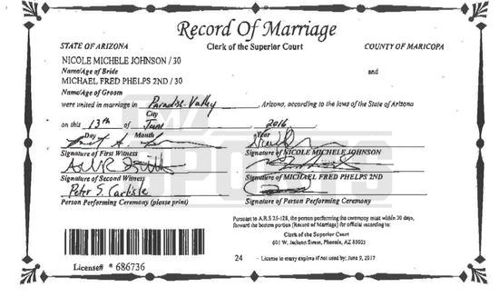 曝光的两人结婚证