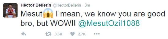 贝莱林惊叹