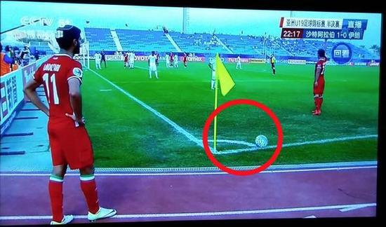 伊朗队11号莫赫塔里主罚角球