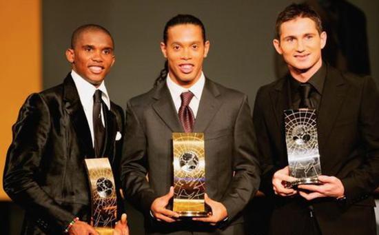2005年,兰帕德差一步便摘得世界足球先生