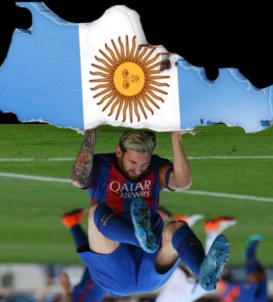 梅西扛起阿根廷