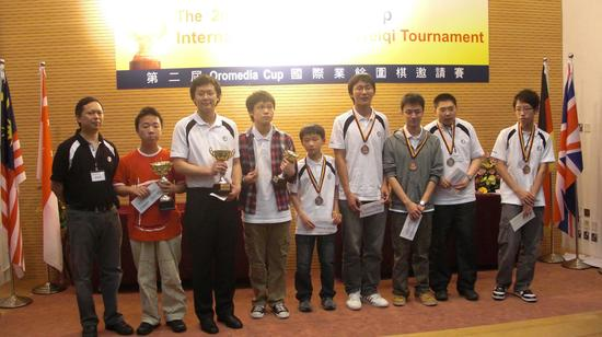 2009年在香港举行的国际业余赛上,汕头李聪(左二)战胜胡煜清夺冠