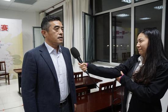 德州市体育总会主席张卫东承受采访