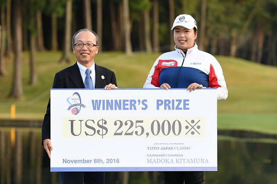冯珊珊上月在日本赢得LPGA