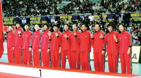 第六冠:2003年世界杯女子排球賽中國女排奪冠