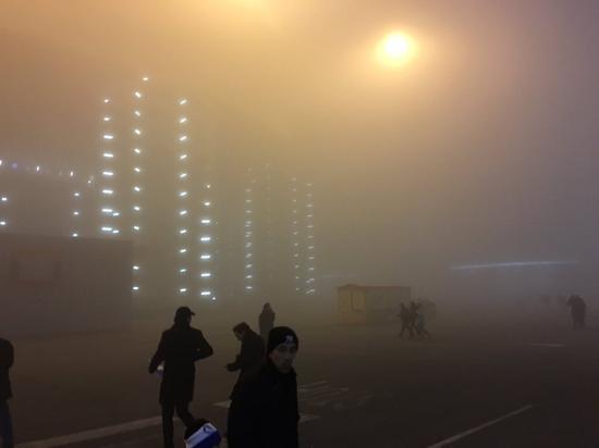 圣西罗浓雾弥漫