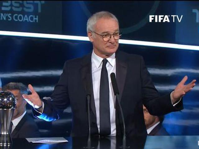 拉涅利获2016最佳教练