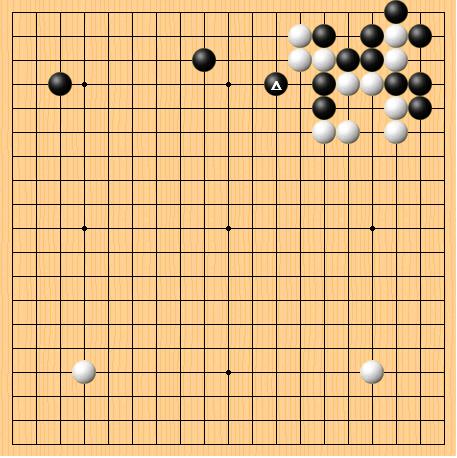 2016-12-30 黑:连笑 白:阿尔法狗 共122手 白中盘胜