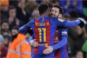 国王杯-MSN进球梅西绝杀 巴萨总分4-3翻盘晋级