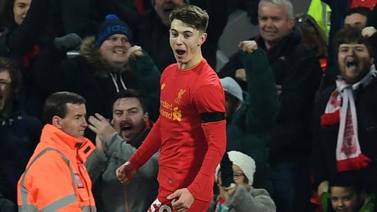 利物浦这赛季也涌现出一批不错的年轻人