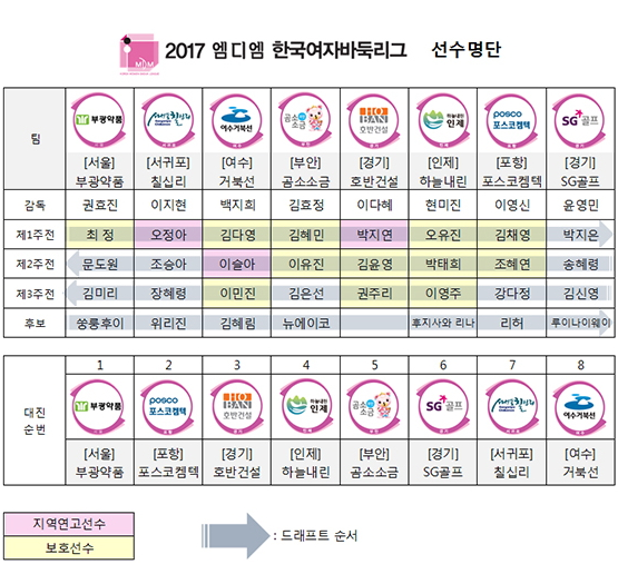 2017韩国女子围棋联赛大名单
