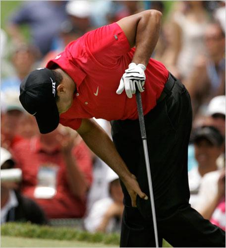 老虎拖着一条伤腿赢下2008年美国公开赛——他迄今最后一次大满贯封王