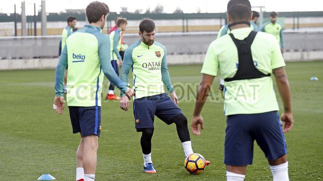 梅西参加训练