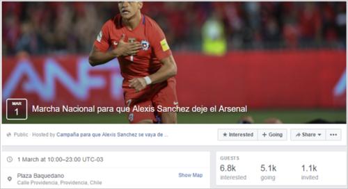 脸书活动页面,超过5000人报名