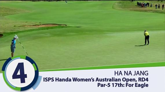 视频-LPGA澳洲赛精彩五佳球 张哈娜老鹰长推上榜