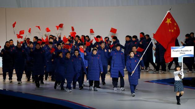 亚冬会开幕式入场仪式-中国代表团入场
