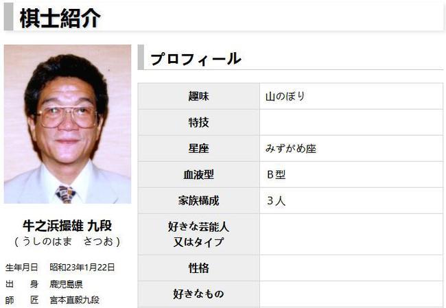 日本关西棋院九段棋手牛之浜撮雄