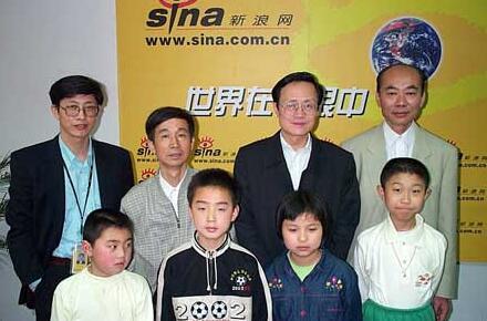 中国围棋名宿来到新浪网进行少儿围棋指导