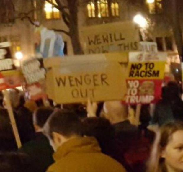 抗议特朗普集会现场